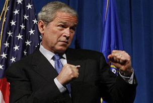 Bush giderayak kendisini savundu.11368