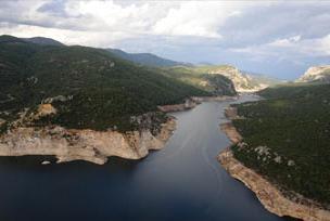 Tahtalı Barajına bereket yağdı.9875