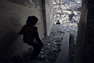 Gazze'de enkazlardan ceset fışkırıyor.11144