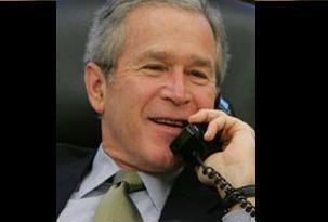 Bush, telefonda liderlerle vedalaştı .11002