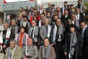Yazarların mülteci kampındaki protestosu.19962