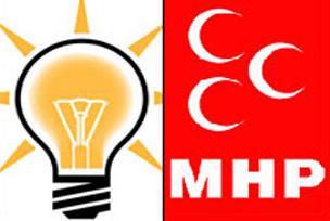 AKP ve MHP İl başkanları birbirine girdi.11052