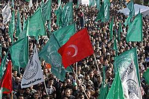 Filistin'de Türk Bayraklı sevinç gösterisi.25398