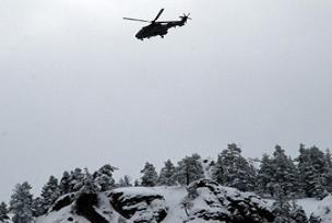 Düşen helikoptere ulaşılamıyor.8809