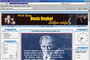 Deniz Baykal'�n istifas� i�in site a��ld�.14520