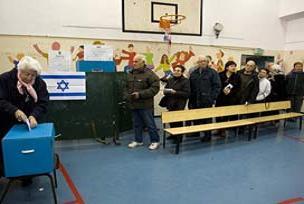 İsrail'de seçimlere katılım yüksek.13563