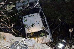 Otomobil viyadükten düştü: 2 ölü.17511