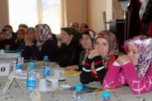 Samsun'da kadın çifçiler yarıştı.12455