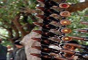 24 adet makineli tabanca mermisi bulundu.16598
