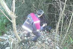 Ormanda yanmış kadın cesedi bulundu.21661