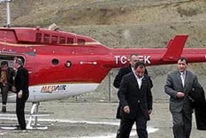 Helikopter enkazı Ankara'ya götürüldü.14445