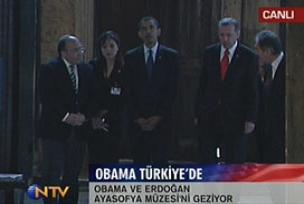 Erdo�an ve Obama Sultan Ahmet'te .8869