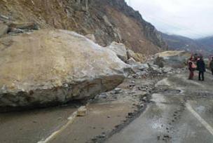 Gümüşhane-Trabzon kara yolu kapandı.11960