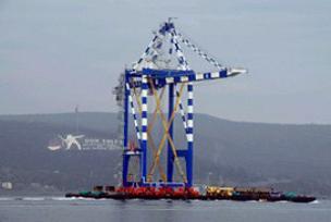 Çanakkale Boğazı'ndan motorsuz gemi geçti.8265