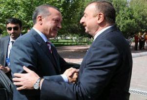 Erdoğan, İlham Aliyev ile görüştü.14864