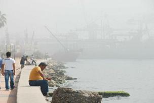 Mersin'de bastıran sis yangın ihbarı yaptırdı.7621