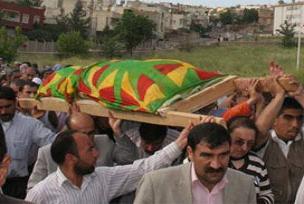 Kadın terörist Siirt'te defnedildi.15112