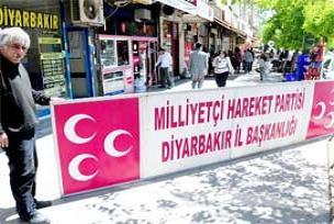 MHP'nin Diyarbakır'daki tabelası.19659