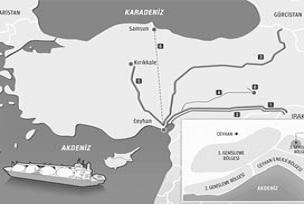 Irak'ın kuzeyinden Ceyhan'a petrol sevkiyatı.9565