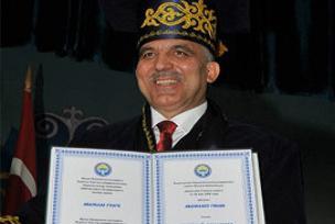 Abdullah Gül'e fahri profesör unvanı.9345