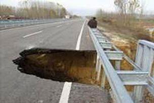 Ümraniye'de yol çöktü!.10624