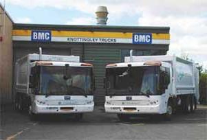 İngiltere'nin çöp kamyonları BMC'den.11096
