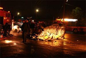 Amasya'da feci trafik kazası: 3 ölü.12238