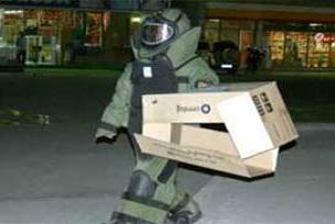 Ankara'da şüpheli paket patlatıldı.10485
