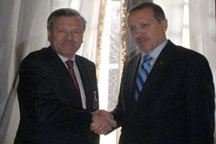 Erdoğan, Hoop Scheffer'i kabul etti.9929