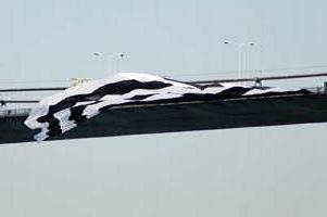 Beşiktaş bayrağı Boğaz Köprüsü'nde.6386