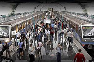 Metroda 'haremlik-selamlık' tartışması.18529