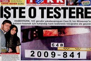 Kanlı testereli manşete suç duyurusu.20164