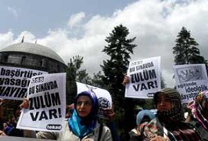 ÖSS'de katsayı sistemi protesto edildi.15835