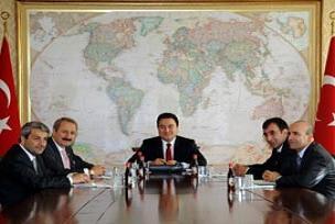 Erdoğan ekonomi bakanları ile toplantıda.13621