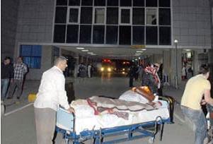 Hastane yangını sonrası ilk toplantı.13451