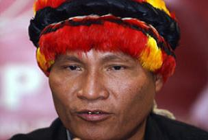 Şef Pizango, Nikaragua'ya sığındı.10022