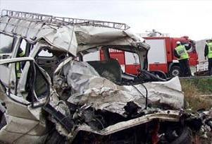 Aksaray'da trafik kazası: 1 ölü 7 yaralı.17001
