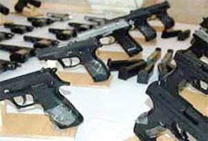 Samsun'da yasa dışı silah atölyesi.13799