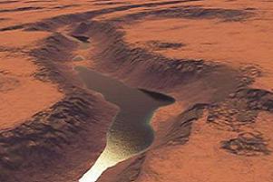Mars'ta bir gölün 'tartışmasız' izleri.12147