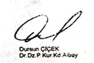O imza yüzde 90 Albay Dursun'un.7596