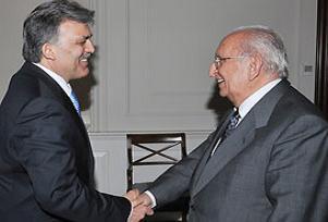 Abdullah Gül, Cindoruk'u kabul etti.10542