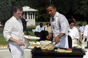 Beyaz Saray'ı piknik alanına çevirdi.15341