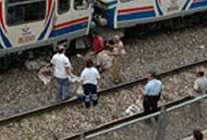 Manisa'da trenin çarptığı yolcu öldü.14148