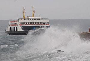 Çanakkale'de deniz seferleri iptal.8618