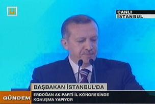 Erdoğan'ın kongreden belge cevabı.9858