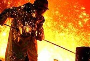 Ham çelik üretiminde büyük düşüş.14474