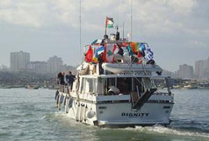 Gazze'ye yardım gemisi yeniden yola çıktı.11853