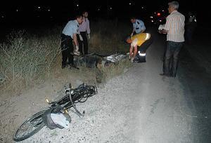 Otomobilin çarptığı bisikletli öldü.12917