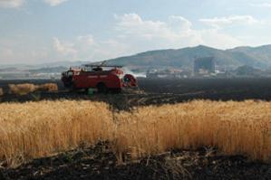 Afyonkarahisar'da anız yangını.10403