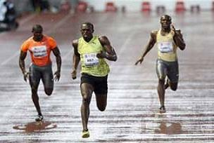 Bolt'u yağmur da durduramadı.14258